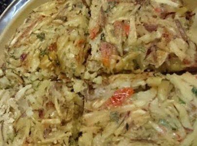 ジャガイモの米粉パンケーキ。